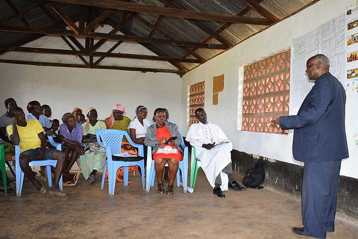 Participants listening keenly on workshop proceedings regarding voter education in Kisumu.