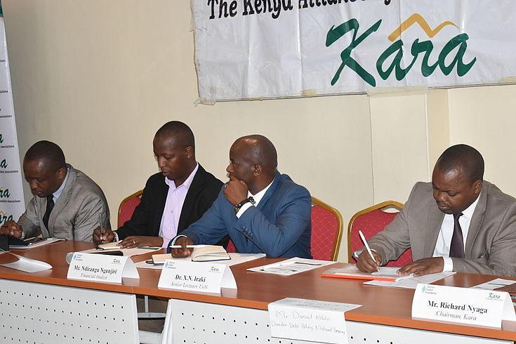 Panelists at the KARA forum